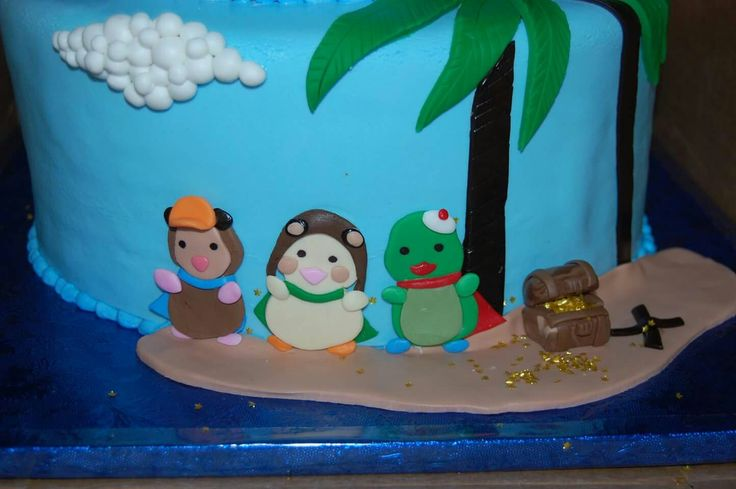 Anchored sweets wonder pets theme birthday cake