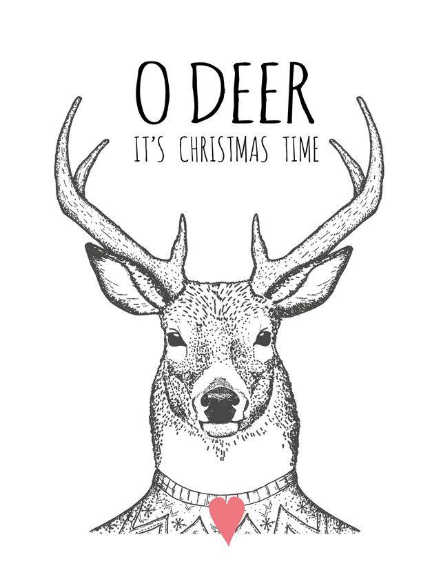 design: http://PrintCandy.nl/ #101kerstkaartencountdown #christmascard #postcard #holidaycards #dutchdesign #kerstkaart #illustration