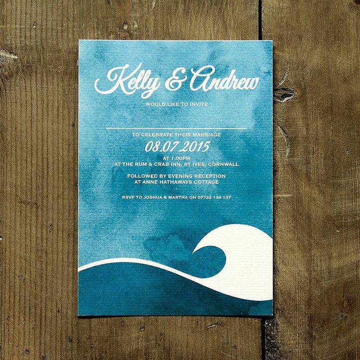 ocean wave wedding invitation stationery by feel good wedding invitations | notonthehighstreet.com