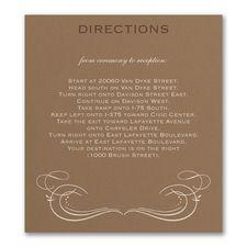 Elegant Swirls - Map Card