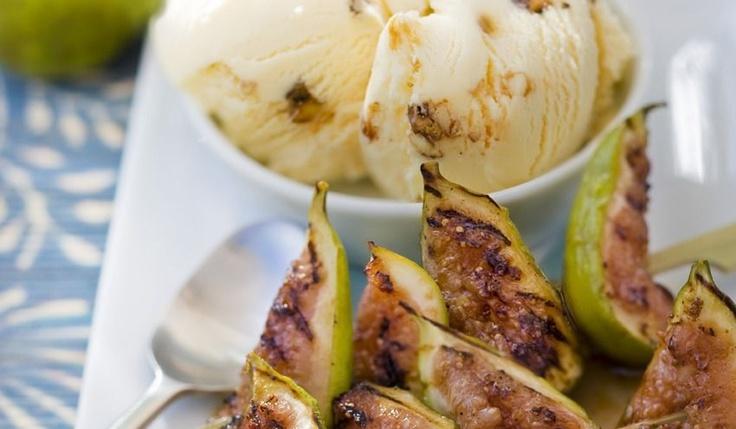 Recette Chaud-froid de figues grillées au miel - recettes Les desserts - Picard