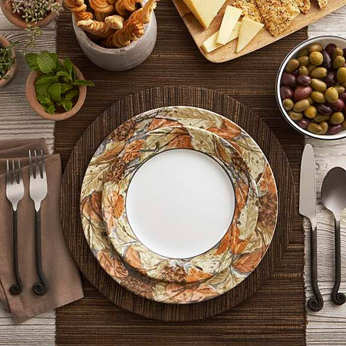 Corelle Woodland Leaves Dinnerware On Walmart Com