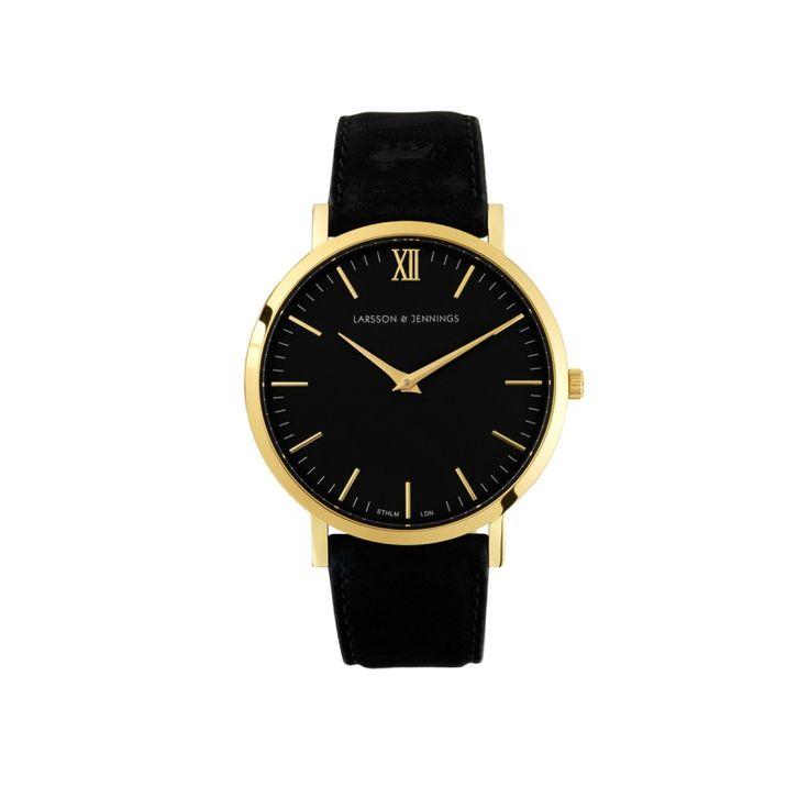 Larsson & Jennings Black Lãder Watch