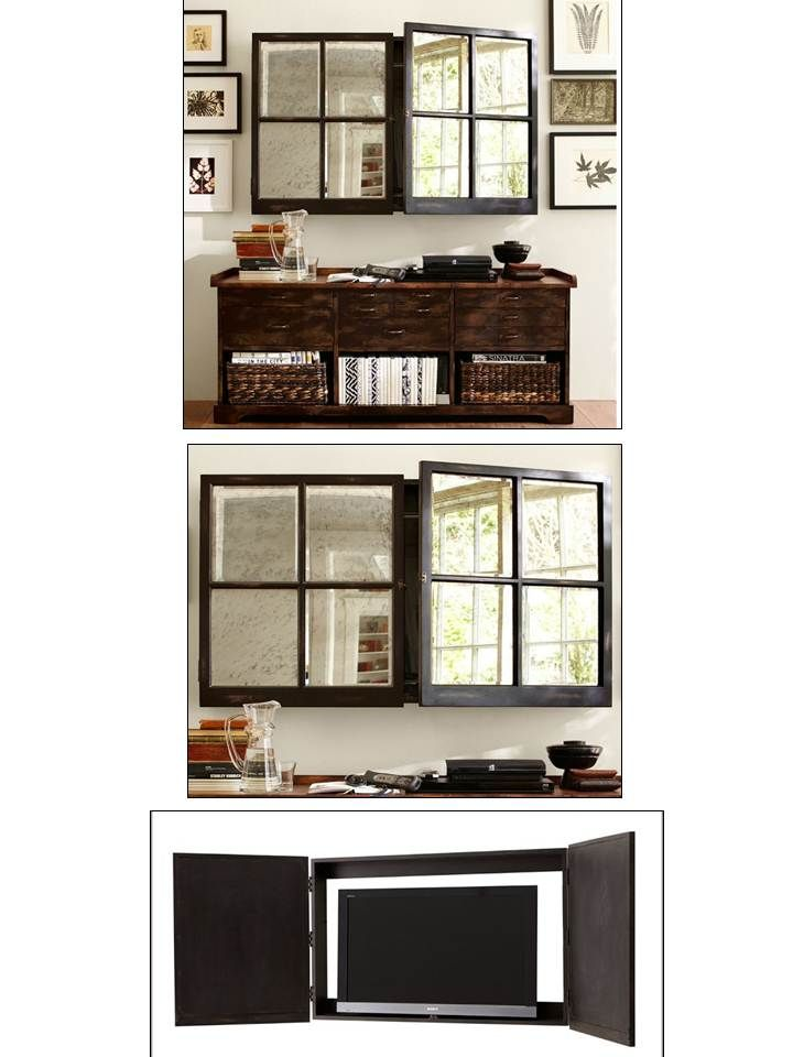 Mirror Wall Mount TV Cover, Small