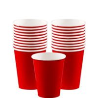 Red Paper Cups 20ct 9oz - Party City