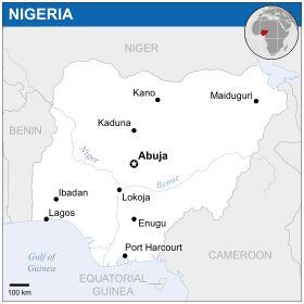 Mapa  República Federal da Nigéria