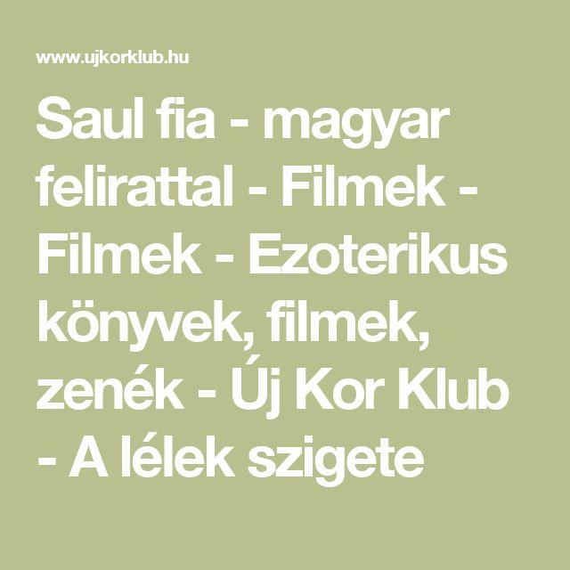 Saul fia - magyar felirattal - Filmek - Filmek - Ezoterikus könyvek, filmek, zenék - Új Kor Klub - A lélek szigete