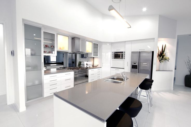 Urban Benchtop With White Cupboards Caesarstone