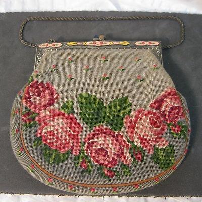 Needlepoint purse.