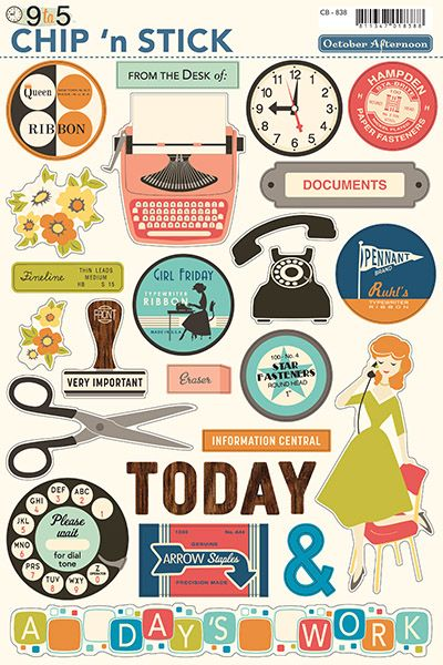 """9 to 5 scrapbooking collection 