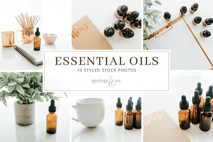 Essential Oils Stock Photo Bundle example image