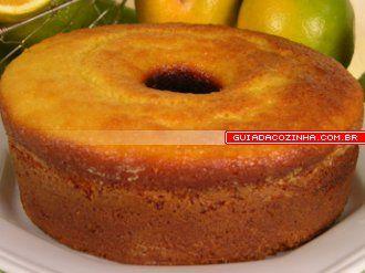 Receita de Bolo de fubá com laranja Cornmeal cake with orange