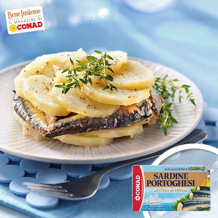 Voglia di un piatto veloce, ma gustoso? Prova questa millefoglie di patate e sardine: per la #ricetta, clicca sulla foto di Conad Bene Insieme!