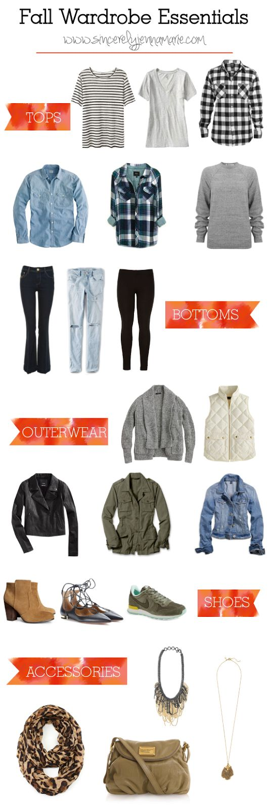 Fall Wardrobe Essentials- perfect for building an Autumn capsule wardrobe, layering, or using as a fall shopping checklist!