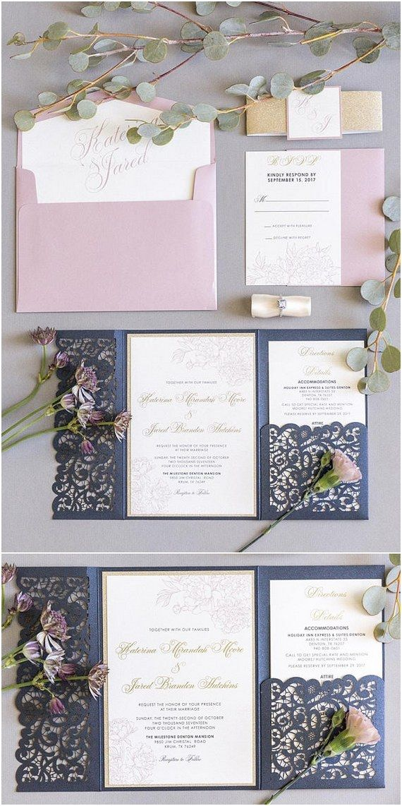 tie the knot wedding invitations etsy%0A Top    Wedding Invitations from Etsy for