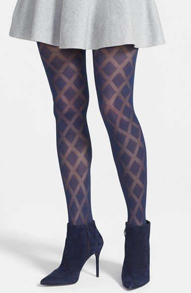 e0ae1b69a Vince Camuto Sheer Diamond Pattern Tights on shopstyle.com