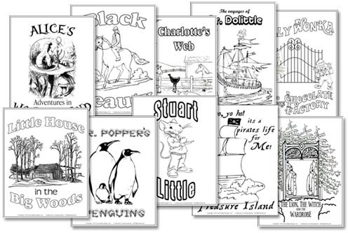 Classic Literature Unit Study Mega Pack Lapbook Printables. $18 Includes:       Alice's Adventures in Wonderland      Black Beauty      Charlotte's Web      The Voyages of Doctor Dolittle      The Lion, the Witch, and the Wardrobe      Little House in the Big Woods      Mr. Popper's Penguins      Stuart Little      Treasure Island      Willy Wonka & the Chocolate Factory