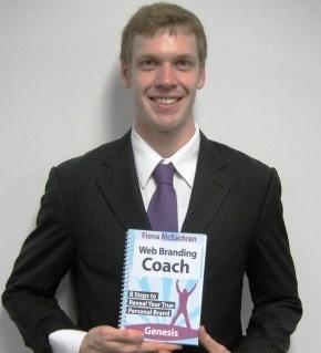 Christian Allen with Web Branding Coach Book