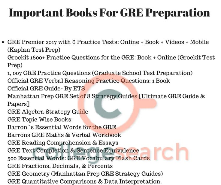 Top Books For GRE preparation