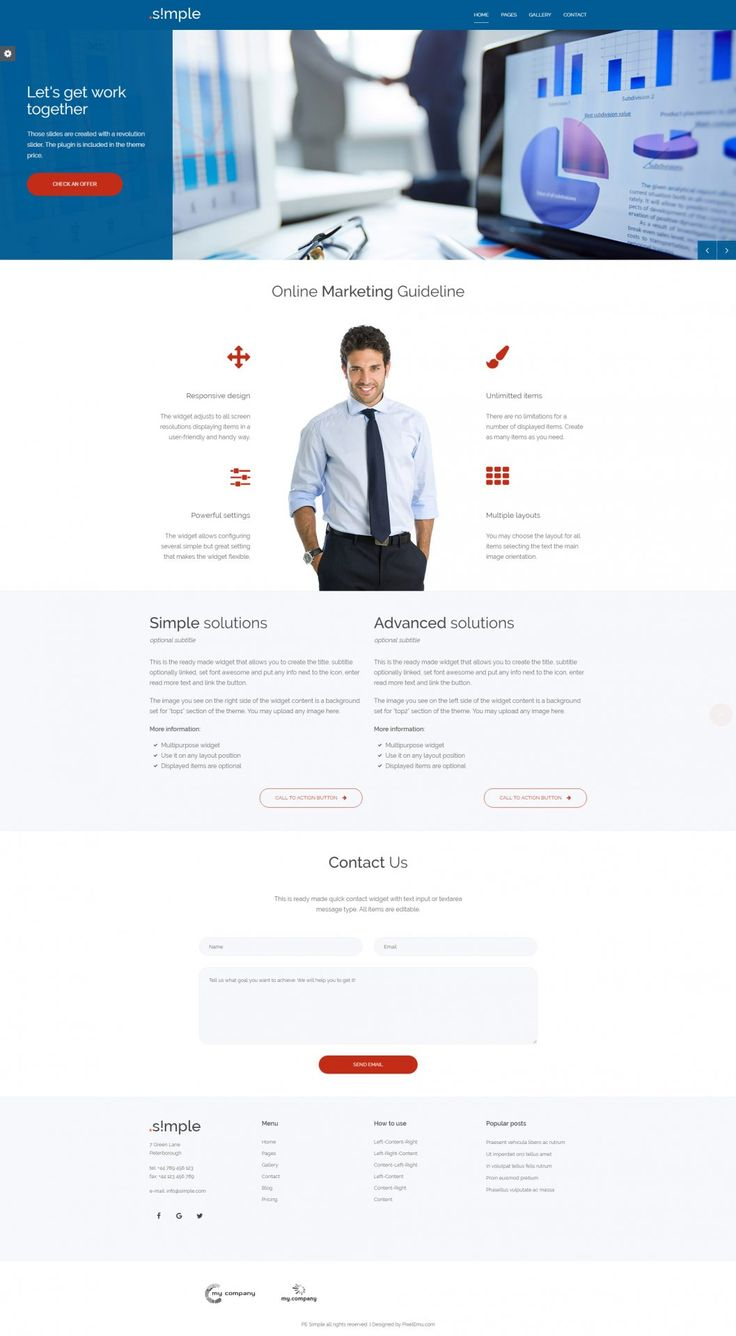 Versatile WordPress theme for small business Demo example for marketing agency #marketing #agency #business #simple #theme #wordpress https://www.pixelemu.com/wordpress-themes/i/3-business/240-simple