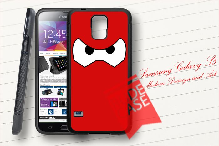 Samsung Galaxy S5 Custom Big Hero 6 Baymax Face Fighter Rubber Case