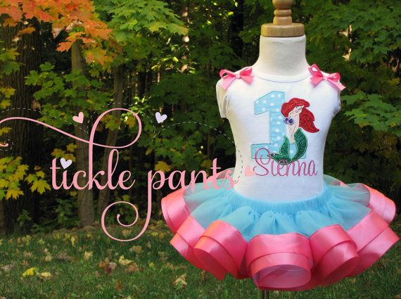 Little Mermaid Birthday Collection Ariel Bright by TicklePants, $63.99
