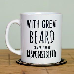 'Great Beard' Man Mug - for young men