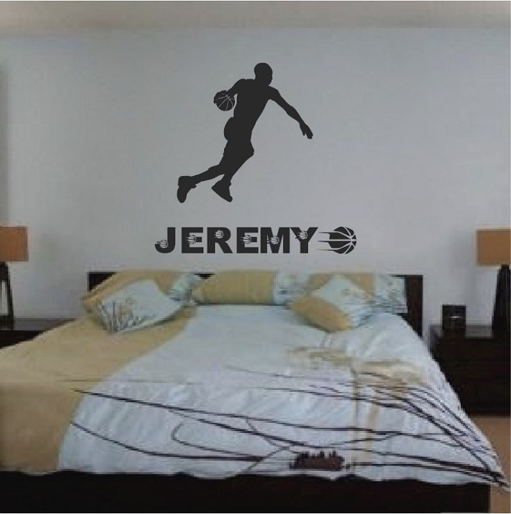 Basketball Player Wall Sticker. Basketball RoomBasketball PlayersSports ...