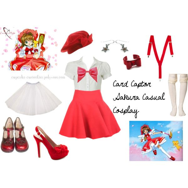 """Card Captor Sakura Casual Cosplay"" by cupcake-curiosities on Polyvore"