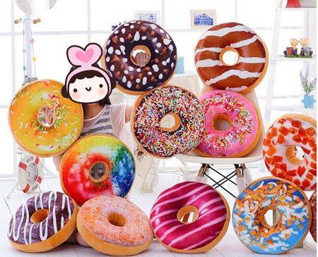 Słodki pączek poduszki, piękny pączek ciasto czekoladowe poduszki, home dekoracje pokoju dzieci dla dzieci dziewczyny chłopcy pluszowe zabawki pluszowe cukierki(China (Mainland))
