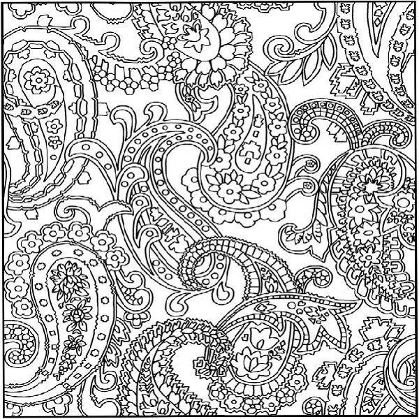 pattern coloring pages for teens - photo#3