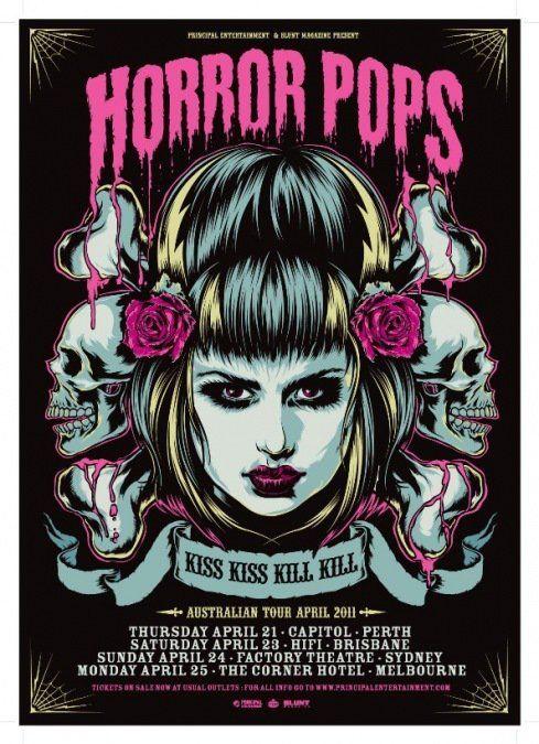 horror pops band poster