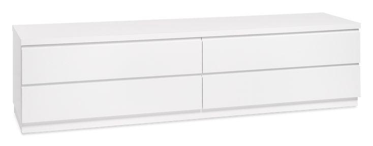PALLAS-taso, 4 laatikkoa, valkoinen