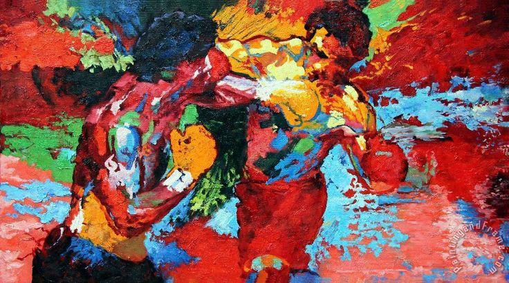 Leroy Neiman Rocky vs Apollo painting - Rocky vs Apollo print for sale