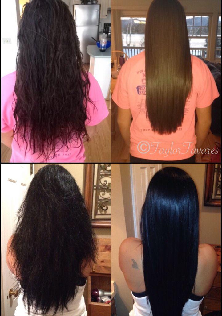 Hair transformations from Keratin Straightening Treatment!