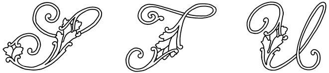 Fancy Cursive Letters :: Image 7