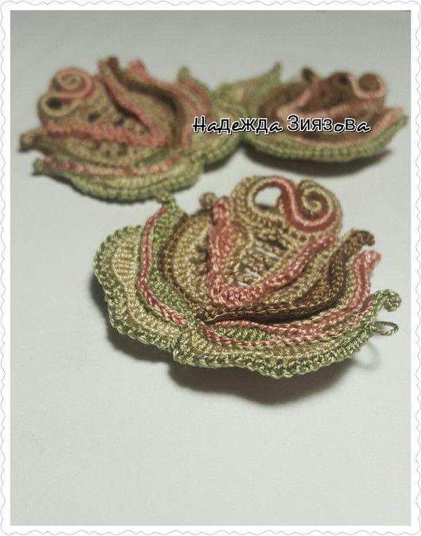 Надежда Зиязова. Irish crochet. Freeform. Motifs. Dress. Ирландское кружево…