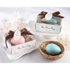 The Nest Egg scented Egg Baby Shower Soap In Nest- Pink or Blue
