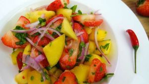 Trini Mango Chow (You can make without the strawberries)