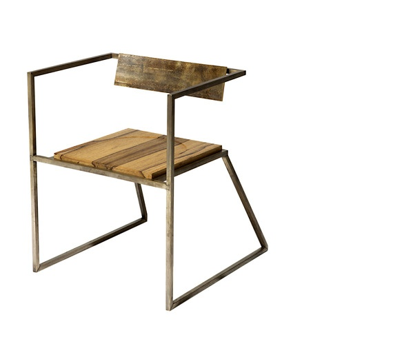 Codor Design   Dovetail Brass Chair