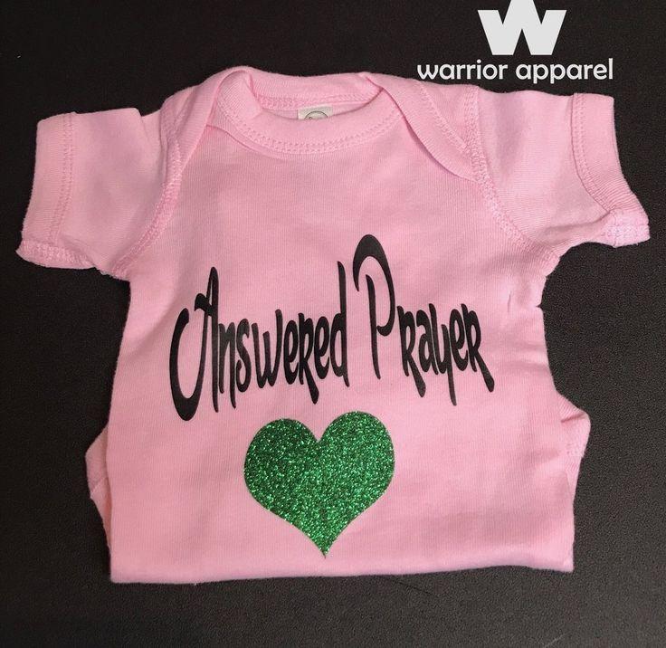 Baby Girl esie Answered Prayer Soft Pink