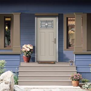 JELD-WEN Premium Monterey Craftsman Primed Steel Entry Door with Brickmold-N11606 at The & 50 best Front Door images on Pinterest | Entrance doors Front doors ...