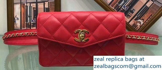 Chanel Vintage Lambskin Chain Belt Quilted Waist Flap Bag Red 2018 Www Zealbag Ru Flap Bag Vintage Chanel Bags