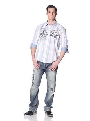 Desigual Men's Stripe Woven Shirt