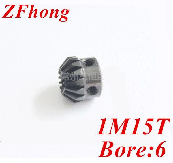 2pcs 1m15t   15 teeth matel Bevel Gears Module 1 bore 6mm