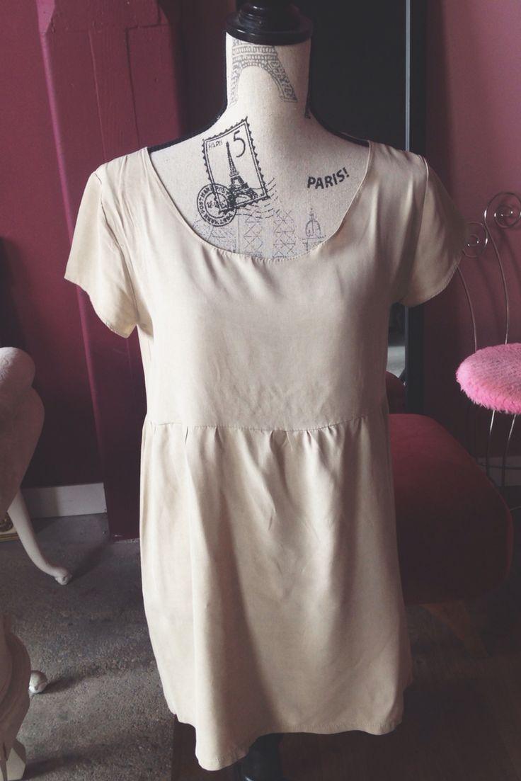 CREAM DE LA CRÈME // cream babydoll dress