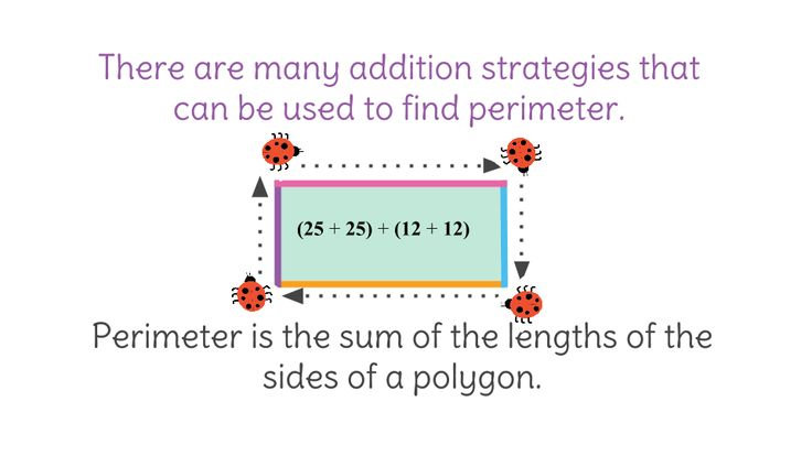(2)Find the perimeter of polygons  Students will be able to find the perimeter of different types of polygons.  The lesson gives strategies that will help with the addition of the sides.