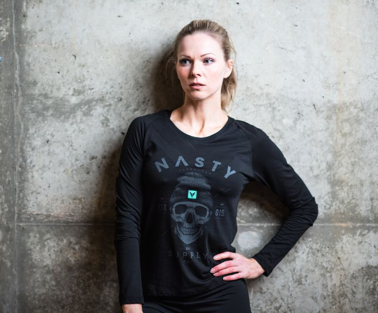 Long Sleeve Skull Top by Nasty Lifestyle.  Get yours today!  CrossFit Apparel, Gym Apparel, Fitness Apparel, Womens Lifestyle product,