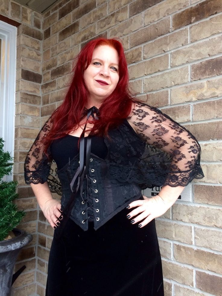 A personal favorite from my Etsy shop https://www.etsy.com/ca/listing/251953187/black-lace-hooded-capelet