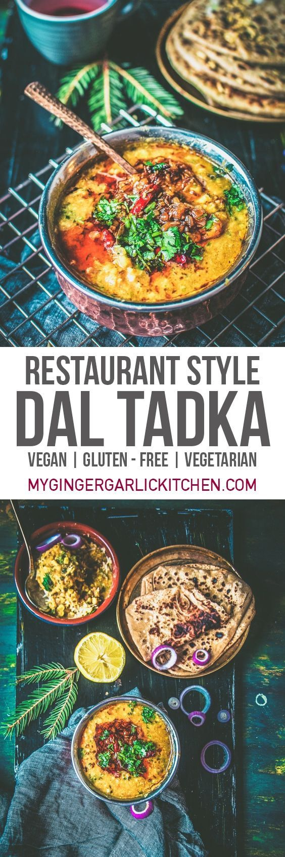 Restaurant Style Tadka Dal or Dal Tadka is one of the most basic yet one of the most popular dal recipes served in any Indian Restaurant. This #vegan, #gluten-free, and #vegetarian dal is a creamy concoction of two lentils boiled until they are rich and creamy and then tempered twice with brilliant spices and butter/ghee. From: mygingergarlickitchen.com/ #Dal #lentils #Protein #Spicy #powerfood #healthy #videotutorial #Indiancuisine #tadkadal #dalfry #Tasty #indianvegetarianrecipes
